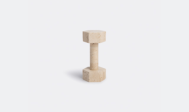 Dumbbell, travertine by Addition Studio