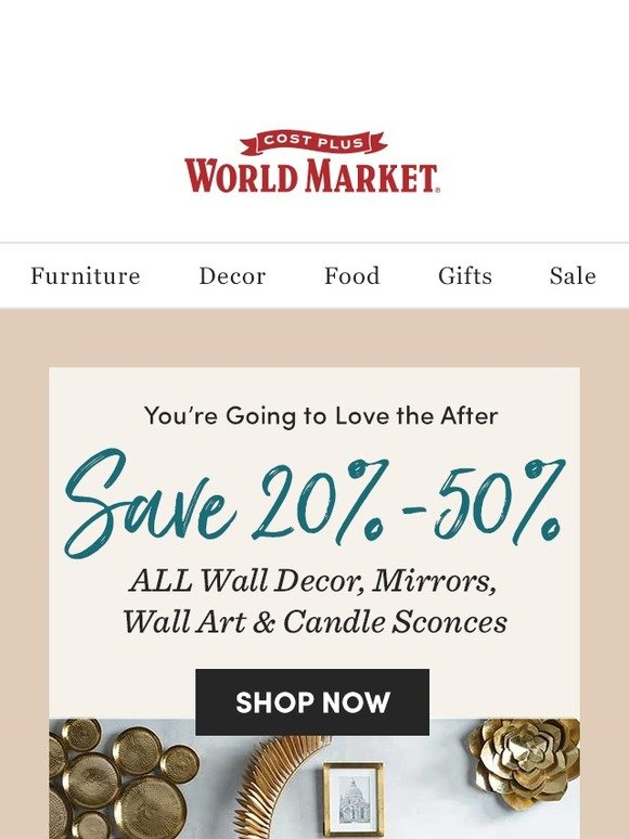 Cost Plus World Market: Your walls are talking… | Milled