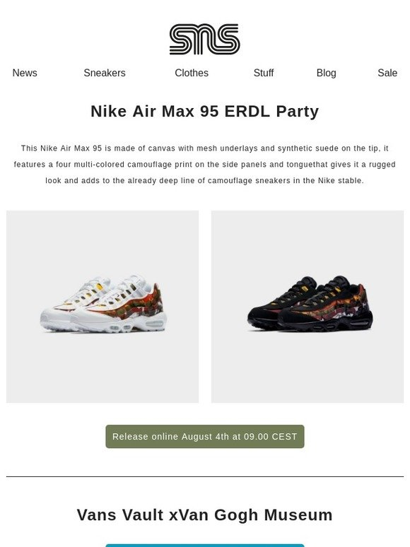 c7c6eb8c450 Sneakersnstuff  Nike Air Max 95 ERDL Party