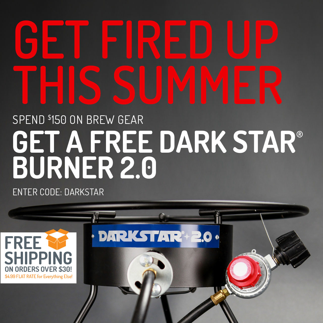 "Free Dark Star Burner With Orders Over $150. Use code ""DARKSTAR"" now through 11:59pm CST on 8/3/2018."