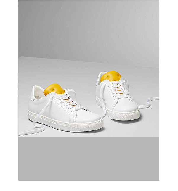Mustard and White Sneakers