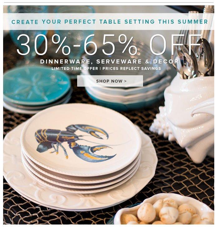 30-60% Off Dinnerware, Serveware, and Decor