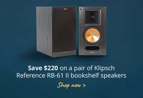 Save 220 On A Pair Of Klipsch Reference RB 61 II Bookshelf Speakers