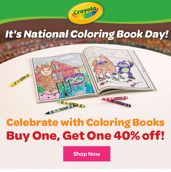 Crayola National Coloring Book Day Milled