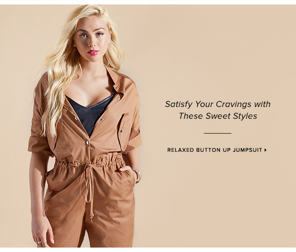 RELAXED BUTTON UP JUMPSUIT