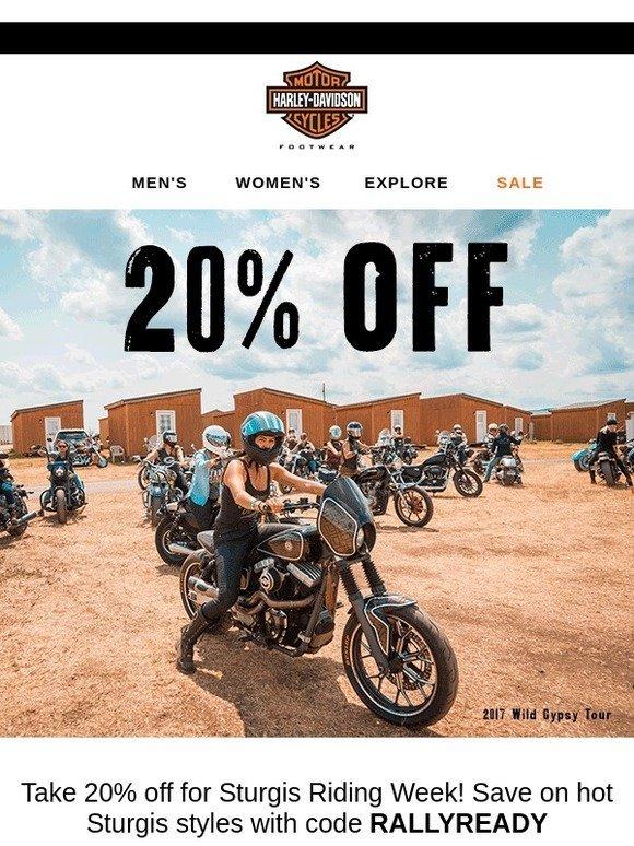 Harley-Davidson Footwear: STURGIS SALE❗20% OFF❗ | Milled