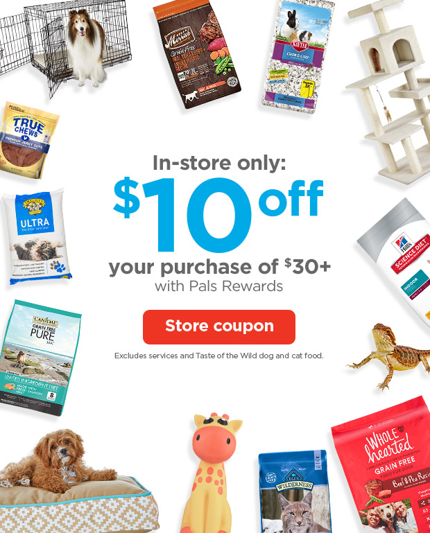 graphic relating to Petco Coupon Printable referred to as PETCO: $10 off $30 begins at the moment! Milled