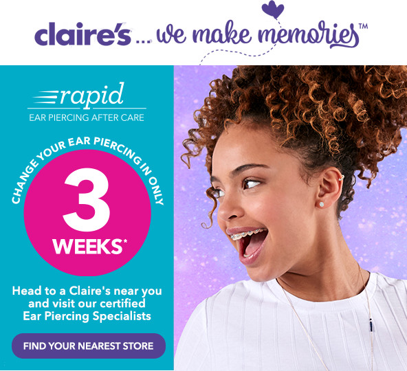 Claire's: Give the gift of Ear Piercing! | Milled