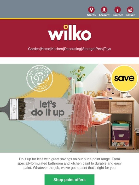 Cool Wilko Com Save On Paint And Wake Up Walls For Less Milled Interior Design Ideas Inesswwsoteloinfo