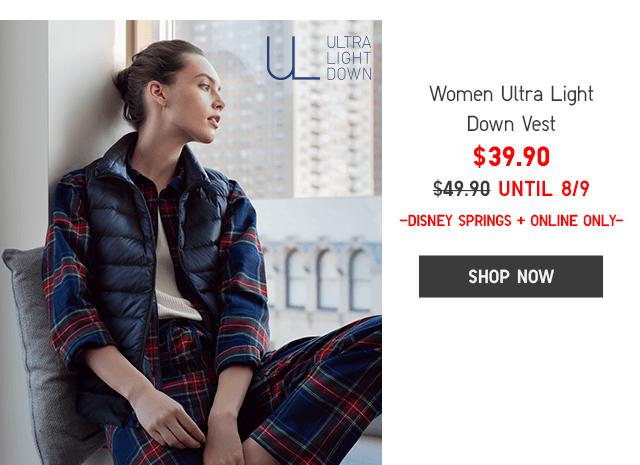 ULTRA LIGHT DOWN VEST - SHOP WOMEN