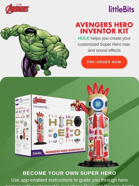 littleBits: Get your super power ROAR like the Hulk HERE | Milled