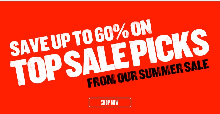 Save up to 60% on this week's Summer Sale Top Deals - Ends 9th August