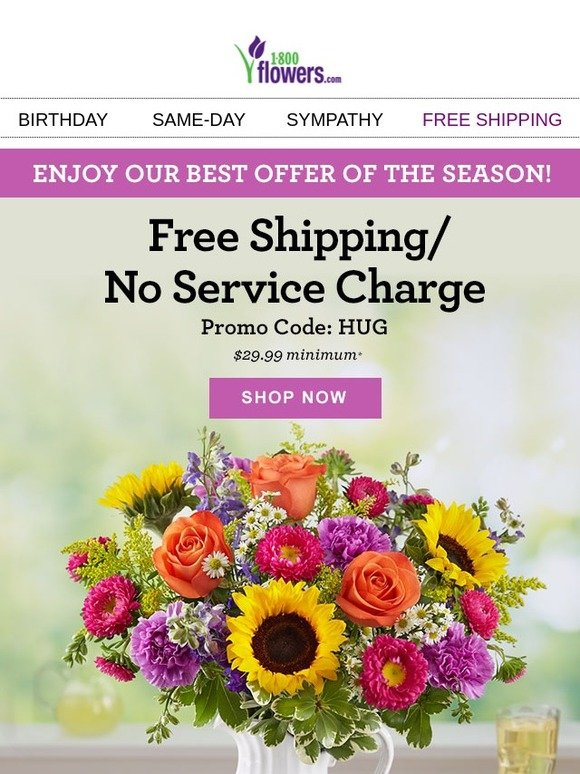 1 800 Flowers Lucky You Free Shipping No Service Charge