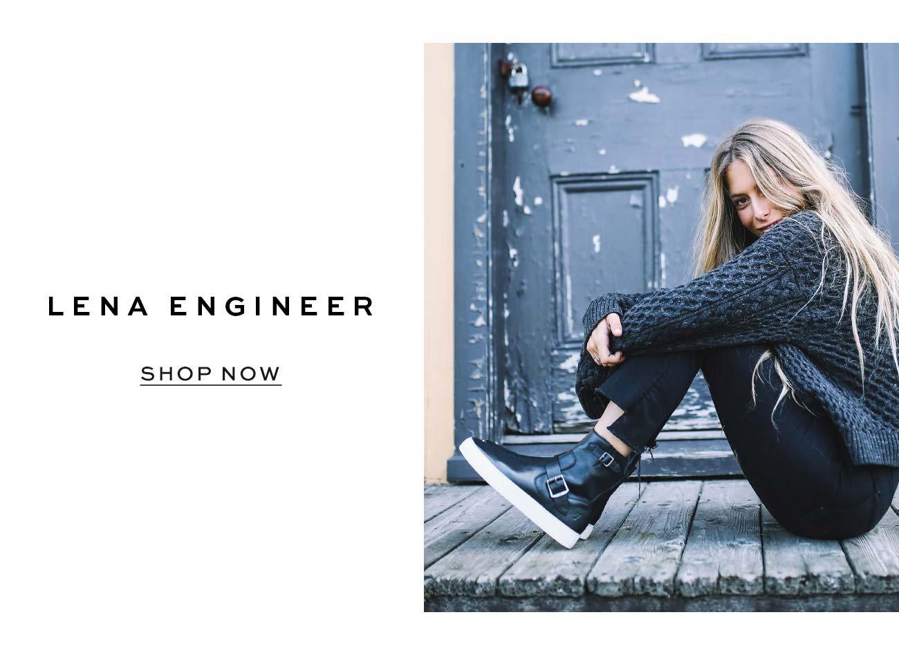 Frye Womens Lena Engineer Sneaker
