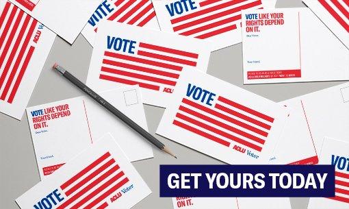 ACLU Voter postcard