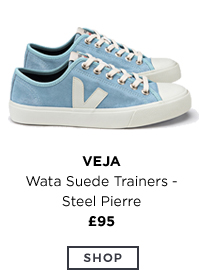 Wata Suede Trainers Steel Pierre