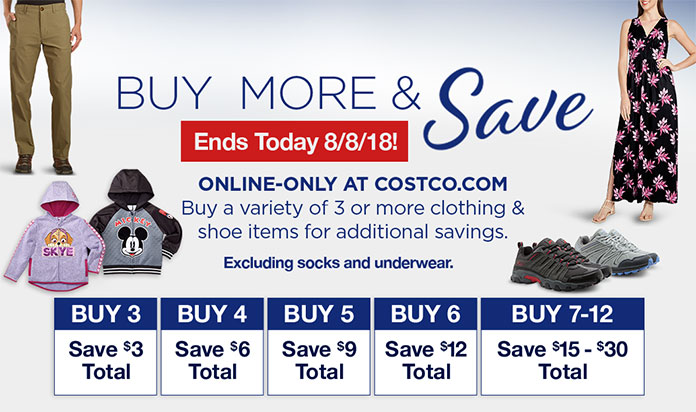 Costo: Buy More and Save on Apparel Ends Today! Plus Savings