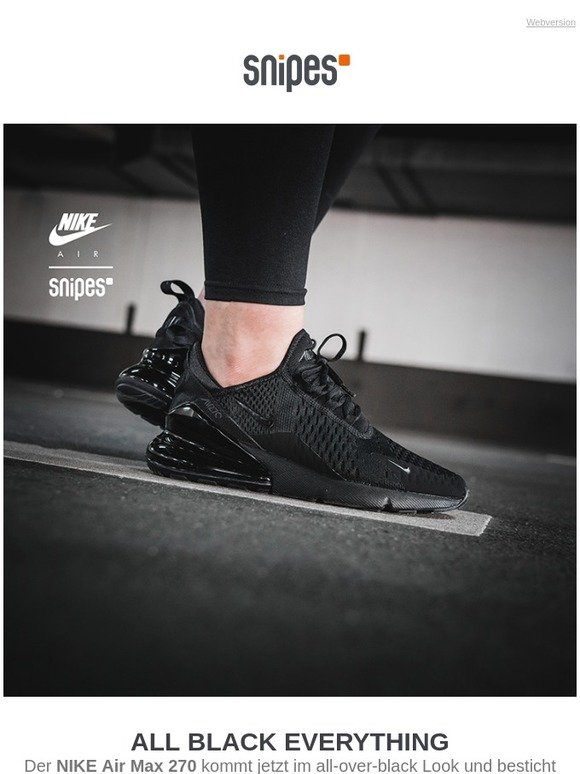 Snipes.Com: Massive air attack: NIKE Air Max 270 | Milled