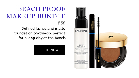 BEACH PROOF MAKEUP BUNDLE  									$82  									Defined lashes and matte foundation on-the-go, perfect for a long day at the beach.  									SHOP NOW