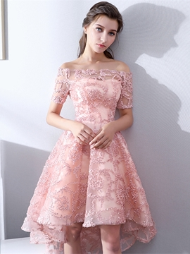 0d6f1c6b3f Ericdress A Line Off The Shoulder Short Sleeve Lace Cocktail Dress