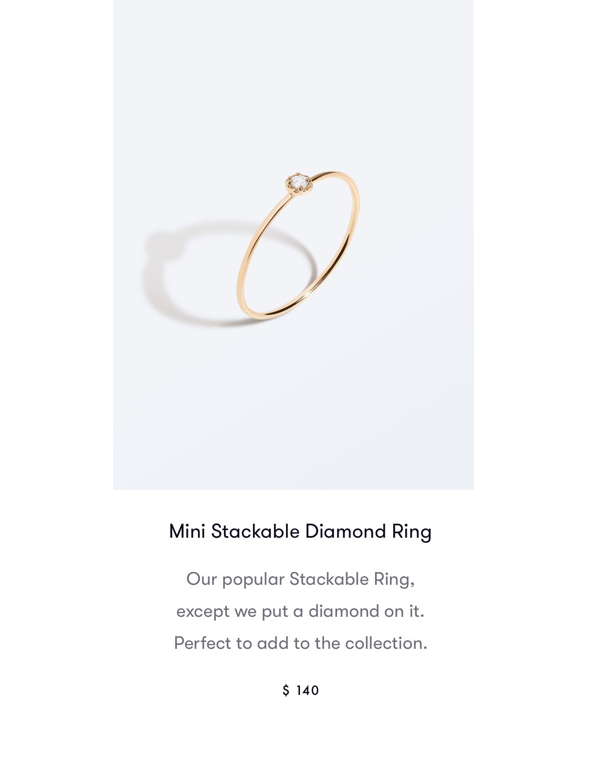 Mini Stackable Diamond Ring