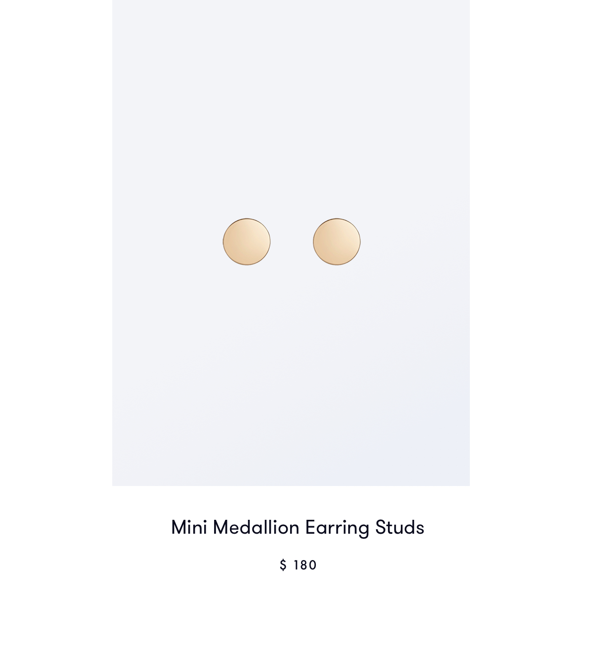 Mini Medallion Earring Studs