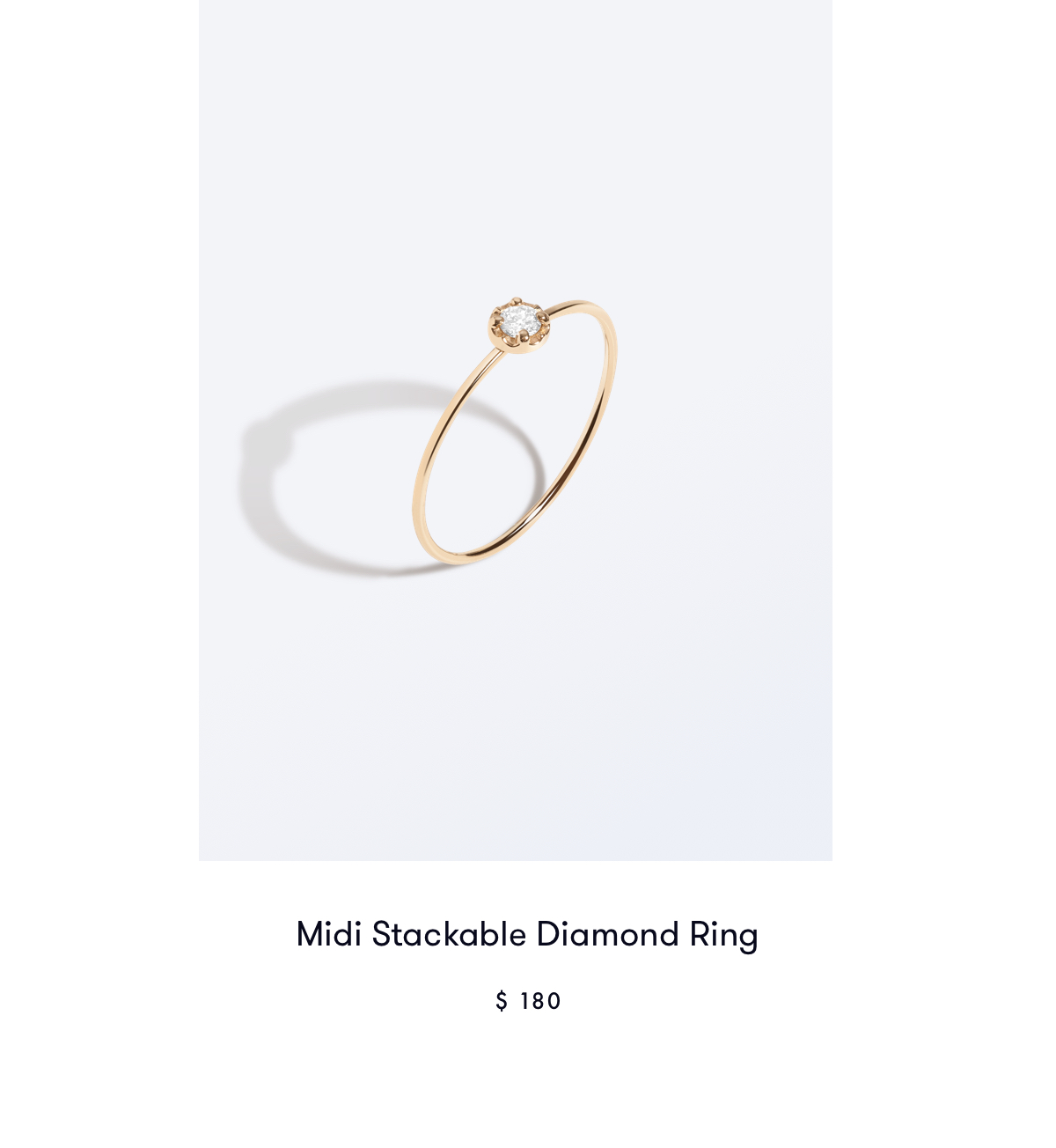Midi Stackable Diamond Ring
