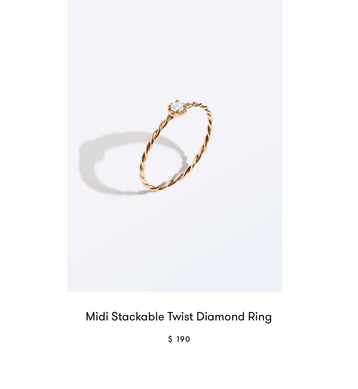 Midi Stackable Twist Diamond Ring