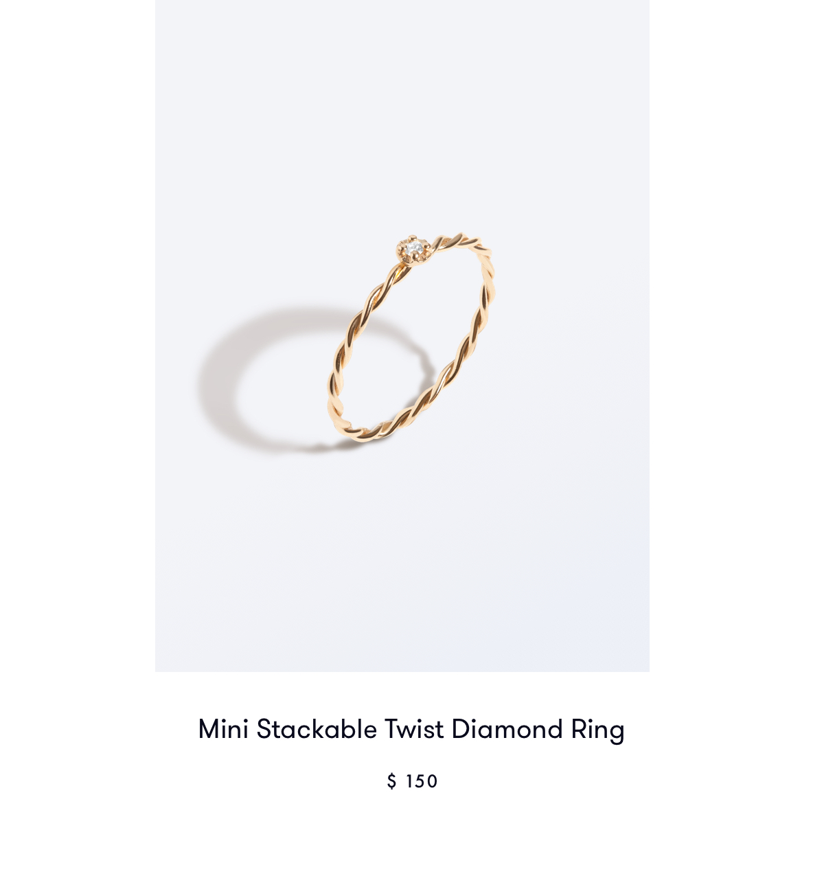 Mini Stackable Twist Diamond Ring