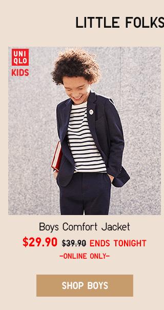 BOYS COMFORT JACKET $29.90 - SHOP BOYS