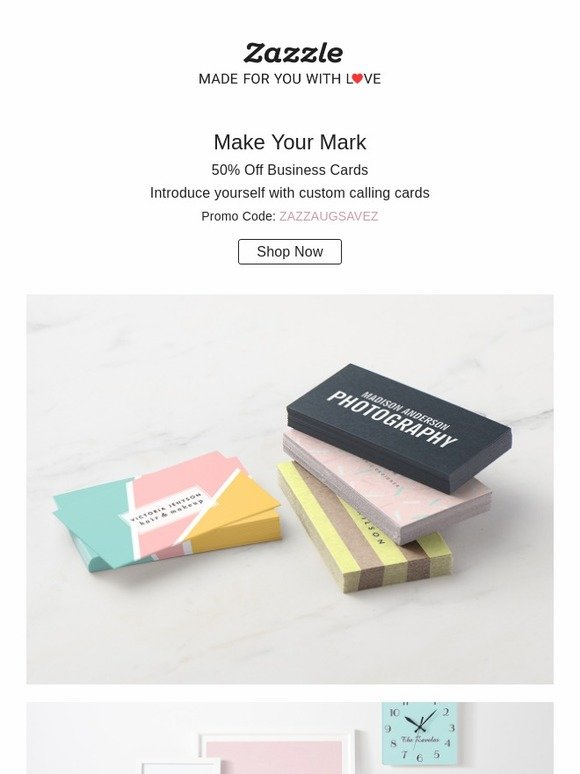 Zazzle 50 off business cards 2 days only milled reheart Image collections