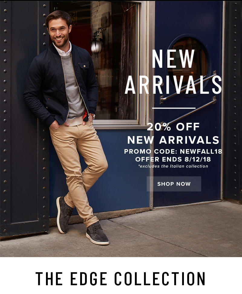Take 20% off New Arrivals with promo code NEWFALL18 at checkout. Display images to learn more!