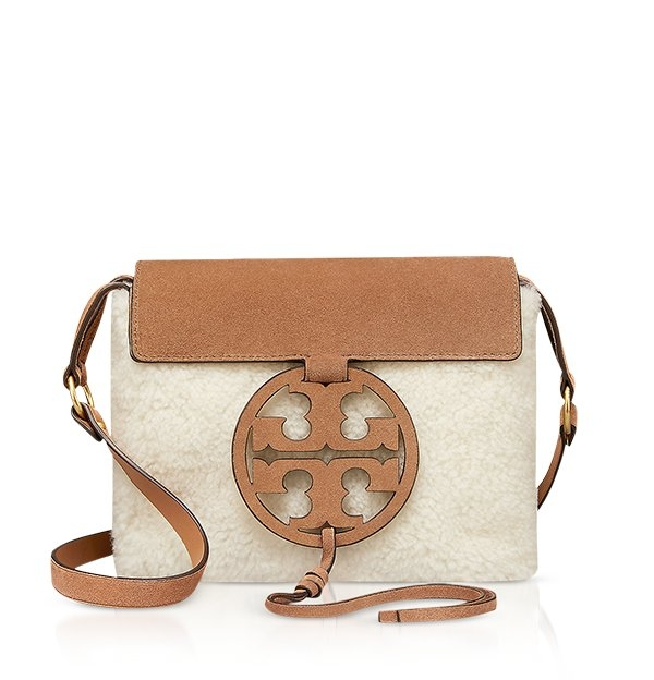 57bcce5423110 Festival Brown Shearling and Leather Miller Crossbody Bag