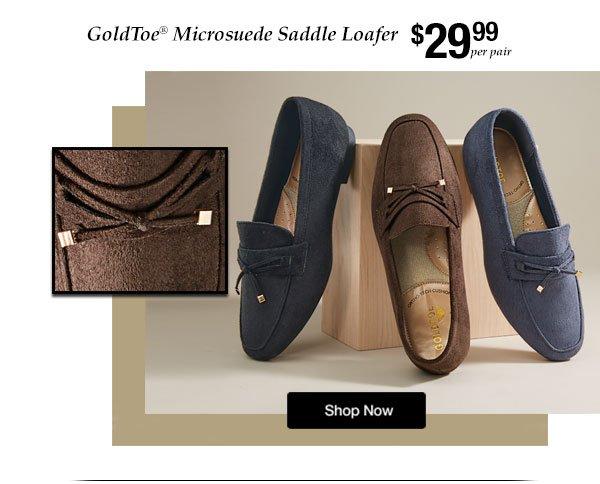 Shop Goldtoe Microsuede Loafer