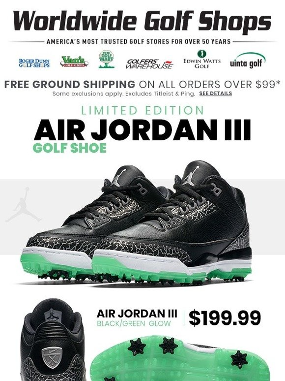 Worldwide Golf Shops Now Available Limited Edition Nike Air Jordan
