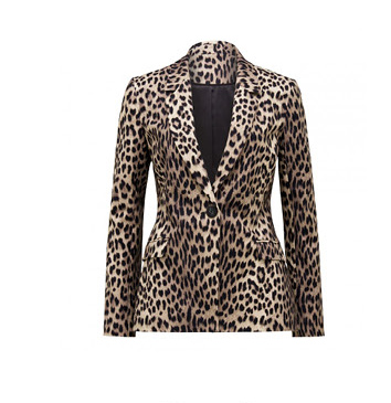 Donatella Leopard Blazer