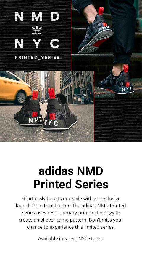 huge discount 2878d 5a99a Foot Locker: Hey, NYC: adidas NMD Printed Series is here ...
