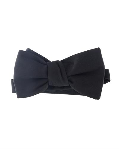 GIVENCHY Made in Italy Black Silk Bow Tie