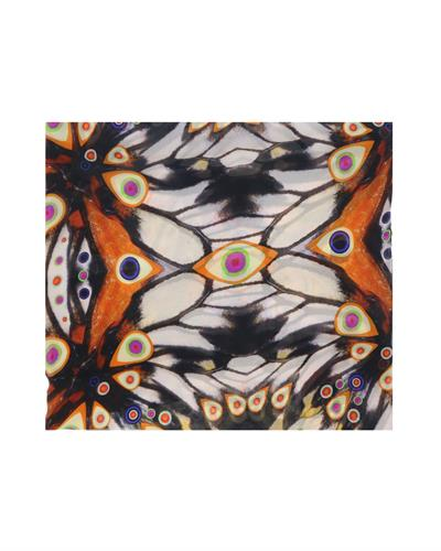 GIVENCHY Made in Italy Black Silk Womens Scarf