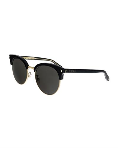 GIVENCHY Made in Italy Womens Oval Sunglasses