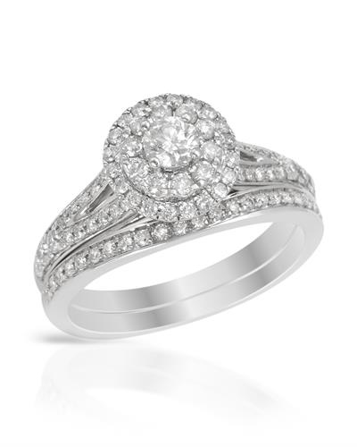 Ring With 1.00ctw Diamonds 14K White Gold