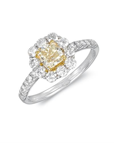 MICHAEL CHRISTOFF Solitaire Plus Ring With 1.31ctw Diamonds 18K Gold
