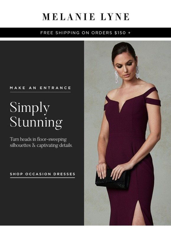 Melanie Lyne Make An Entrance In Our Evening Dresses Milled