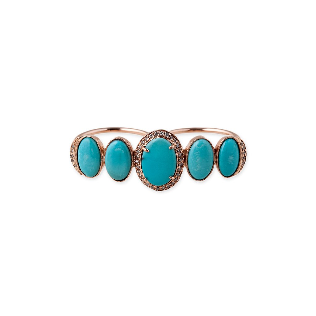 Image of Turquoise Knuckle Ring