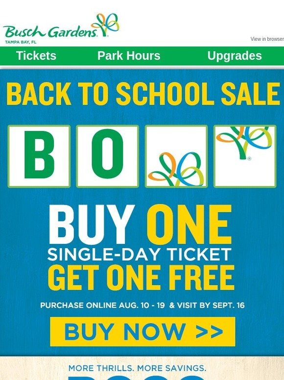 SeaWorld Parks: 🎢 Back To School Sale Starts NOW! | Milled