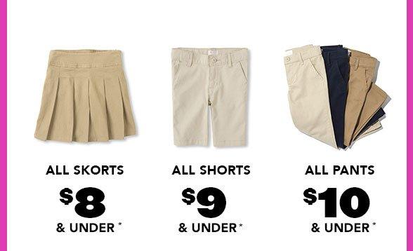 All Girl Skorts Shorts Pants