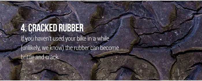 4. Cracked rubber
