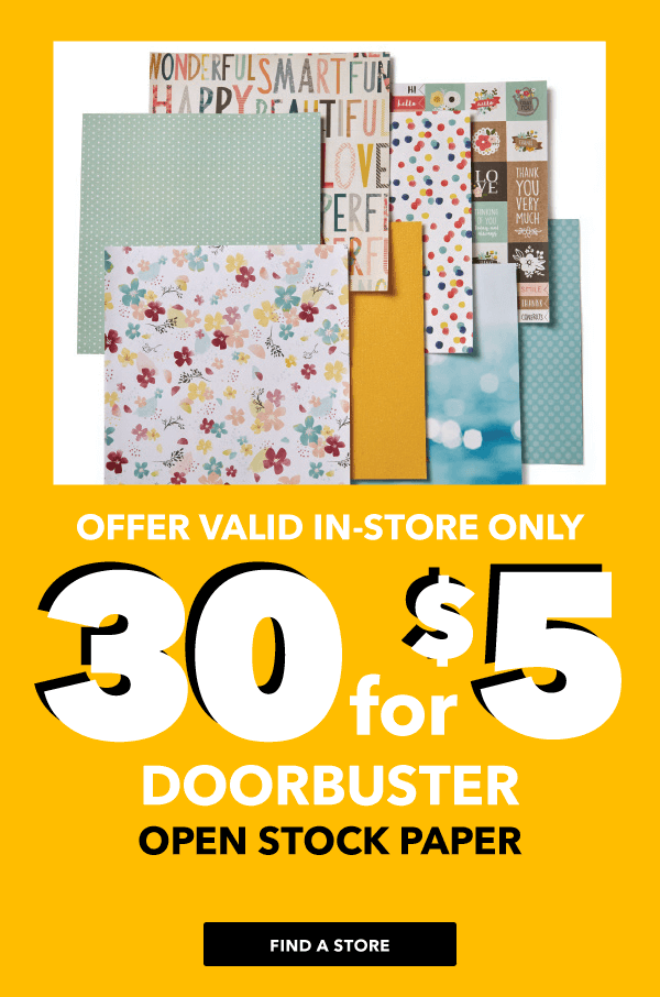 30 for $5 Open Stock Paper.