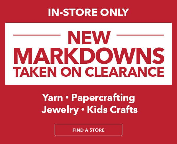 In-Store Only. New Markdowns Taken.
