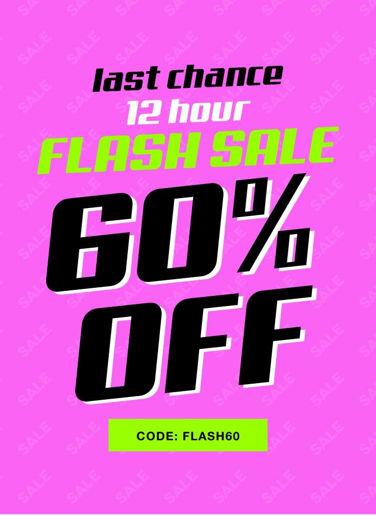 Last Chance! shop 60% off now!